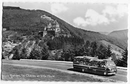 Omnibus,Vianden,Le Chataeu Et Ville Haute,Luxembourg, Ungelaufen - Bus & Autocars