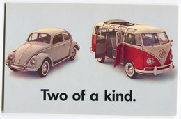 VW Käfer,Bus T1 Samba,Original VW Werbekarte USA, Ungelaufen - Toerisme