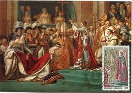 FRANCE CARTE MAXIMUM LE SACRE DE NAPOLEON 1er PAR LE PAPE PIE VII AVEC OBLITERATION VERSAILLES 10-11-1973 CHATEAU DE.... - Napoleon