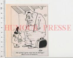 Humour Homme Géant Monstre Mariage Divorce 198/53 - Ohne Zuordnung