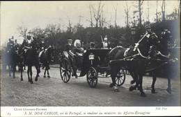 CPA Roi Karl I. Von Portugal, Émile Loubet, Rendant Au Ministère Des Affaires Étrangères - Unclassified