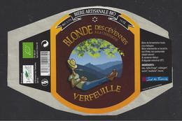 Etiquette De Bière Blonde à La Chataigne  -  Brasserie Verfeuille à Branoux Les Taillades  (30) - Beer