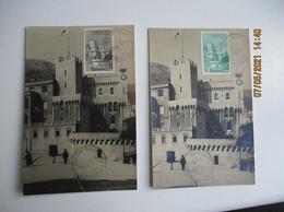 1943 Monaco Lot De 3 Palais 50 C 1 F 30 C M Cm Carte Maximum - Cartas Máxima