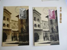 1943 Monaco Lot De 3 Fontaine 2 F 3 F   C M Cm Carte Maximum - Cartas Máxima