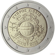 [C0246] Chipre 2012; 2€ - 10 Aniversario Del Euro (UNC) - Cyprus