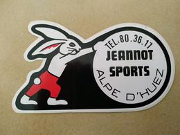AUTOCOLLANT STICKER -  JEANNOT SPORTS – ALPE D'HUEZ – MAGASIN SPORT - Stickers