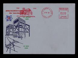 """FRANCE EMA 1969-1992 CENTRALE NUCLEAIRE De """"St-Laurent Des Eaux A"""" Uranium Nature Graphite Gaz Energies Sp7630 - Atome"""