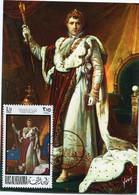 RAS AL KHAIMA CARTE MAXIMUM NAPOLEON EN COSTUME DU SACRE AVEC OBLITERATION RAS AL KHAIMA 15-8-69 - Napoleon
