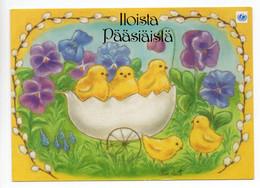 MODERN POSTCARD - UNICEF - POSTAL STATIONERY - FINLAND - EASTER - 5 CHICKS - USED - Easter