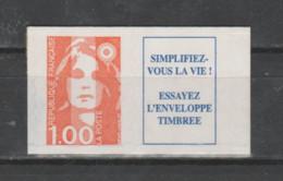 FRANCE / 1996 / Y&T N° 3009a ** Ou AA 8a ** : Briat 1F Orange (adhésif En Dents De Scie + Vignette) X 1 (sans Repère) - Adhesive Stamps