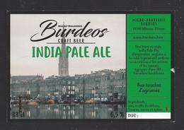 Etiquette De Bière India Pale Ale  -  Brasserie Burdeos à Villenave D'Ornon  (33) - Beer