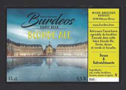 Etiquette De Bière Blonde Ale  -  Brasserie Burdeos à Villenave D'Ornon  (33) - Beer