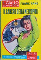 IL GIALLO MONDADORI 1959 N°537 FRANK KANE - SC.33 - Gialli, Polizieschi E Thriller