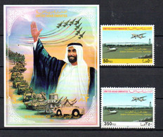 T1-5 Emirats Arabes Unis N° 631 à 632 + BF 9 **  A Saisir !!! - United Arab Emirates (General)