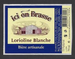 Etiquette De Bière Lorioline Blanche  -  Brasserie Ici On Brasse à Auriolles  (33) - Beer