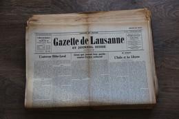 LOT DE PLUS DE 70 JOURNAUX LA GAZETTE DE LAUZANNE 39 45 WW2 - Sonstige