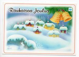 MODERN POSTCARD - UNICEF - POSTAL STATIONERY - FINLAND - CHRISTMAS - SNOWY VILLAGE - USED  2000 - Unclassified
