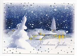 MODERN POSTCARD - UNICEF - POSTAL STATIONERY - FINLAND - CHRISTMAS - SNOWY VILLAGE - USED  2009 - Unclassified