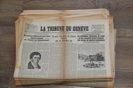 LOT DE PLUS DE 70 JOURNAUX LA TRIBUNE  DE GENÉVE 39 45 WW2 - Sonstige