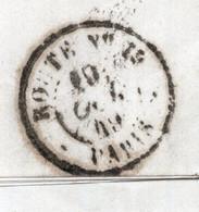"""Cachet En Toutes Lettres """" Route N°.. """" (12 ??) Lettre 1849 De LA QUEUE GALLUIS Pour BOUSSAC - Voir Cachets - 1849-1876: Periodo Classico"""