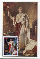 NOUVELLE-CALEDONIE CARTE MAXIMUM NAPOLEON EN COSTUME DU SACRE AVEC OBLITERATION NOUMEA 2 OCT 69 - Napoleon