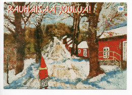 MODERN POSTCARD - UNICEF - POSTAL STATIONERY - FINLAND - CHRISTMAS - GNOME - USED  1999 - Unclassified