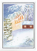 MODERN POSTCARD - UNICEF - POSTAL STATIONERY - FINLAND - CHRISTMAS - SNOWHARE - USED  2004 - Unclassified