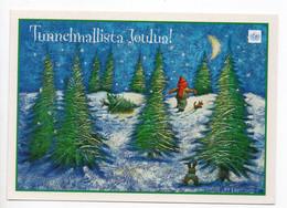 MODERN POSTCARD - UNICEF - POSTAL STATIONERY - FINLAND - CHRISTMAS - CHILD - DOG - RABBIT - USED  2000 - Unclassified