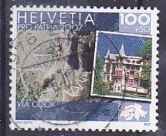 """Tp Année 2007 Pro Patria Itinéraires Culturels En Suisse """" Sentier Muletier De La Gemmi Et Grand Hôtel Glessba """" Tp Obli - Gebruikt"""