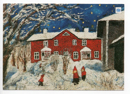 MODERN POSTCARD - UNICEF - POSTAL STATIONERY - FINLAND - CHRISTMAS - GNOMES - USED  1999 - Unclassified
