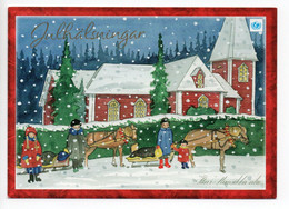 MODERN POSTCARD - UNICEF - POSTAL STATIONERY - FINLAND - CHRISTMAS - CHURCH - HORSE SLEIGH - USED  2006 - Unclassified