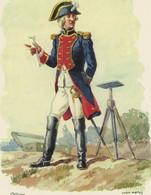 Officier Ingénieur-géographe 1780 - Dessin D'André Marey - Dimensions 21 X 29,7 Cm - Uniformi