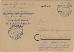 Behelfsausgabe / -ganzsache Der RPD Kiel MiNr. P 764 I, Hanerau-Hademarschen 1.8.1945 - American/British Zone