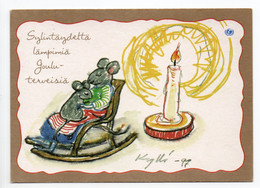 MODERN POSTCARD - UNICEF - POSTAL STATIONERY - FINLAND - CHRISTMAS - MOUSE - ROCKING CHAIR - USED  2000 - Unclassified
