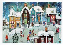 MODERN POSTCARD - UNICEF - POSTAL STATIONERY - FINLAND - CHRISTMAS - SNOWY VILLAGE - USED - Unclassified