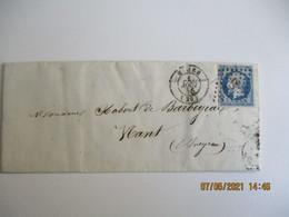 Petit Chiffre 2272 , Nimes Obliteration Lettre Timbre Empire Franc Non Dentele 1865 - 1849-1876: Klassik