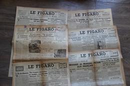 LOT DE  2  JOURNAUX Le Figaro 1941 1942 WW2 - Französisch