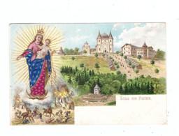 BÖHMEN & MÄHREN - BISTRITZ Am Hostein / BYSTRICE Pod Hostynem, Lithographie, Kastenstempel - Böhmen Und Mähren