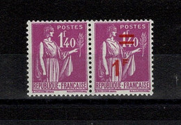 """FRANCE STAMP TIMBRE MAURY N° 484f """" TYPE PAIX 1FS. 1F40 LILAS TENANT A NON SURCHARGE """" NEUF X TB SIGNE W261 - Curiosities: 1931-40 Mint/hinged"""
