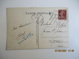 Flamme 7 Lignes Obliques Paris 116 Arts Et Metiers  Sur Lettre - 1921-1960: Modern Period