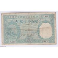 BILLET FRANCE 20 FRANCS BAYARD 31-10-1916  TB+  L'ART DES GENTS AVIGNON - 20 F 1916-1919 ''Bayard''