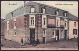 +++ CPA - HALANZY - Aubange - Café Barthélémy Kinsy - Carte Animée En Couleur   // - Aubange