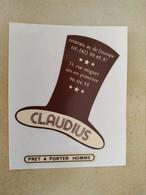 AUTOCOLLANT STICKER - CLAUDIUS – PRET A PORTER HOMME – RUE MIGNET AIX EN PROVENCE – MAGASIN VÊTEMENTS - Stickers