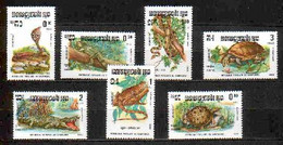 Reptiles Cambodia MNH 7 Stamps 1983 - Other