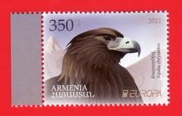 Armenien/Armenie/Armenia 2021, Europa  CEPT, Endangered National Wildlife, Golden Eagle, Bird, Fauna - MNH - 2020