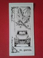 SPAIN DÍPTICO TARJETA FELICITACIÓN AÑO NUEVO FELICES PASCUAS 1969 CITROËN 2 CV 2CV CABALLOS AUTOMÓVILES CAR VOITURE AUTO - Voitures
