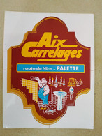 AUTOCOLLANT STICKER - AIX CARRELAGES – ROUTE DE NICE PALETTE - Stickers
