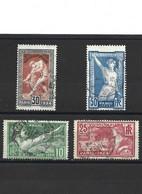 1865 La Série Complète Jeux Olympique De Paris 1924 YT 183-184-185-186 Oblitérés - Gebraucht