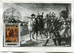 RWANDA CARTE MAXIMUM NAPOLEON HARANGUE LA GRANDE ARMEE SUR LE PONT DU LECH LE 12 OCTOBRE 1805 AVEC OBLITERATION KIGALI.. - Napoleon