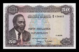 Kenia Kenya 50 Shillings 1971 Pick 9b SC UNC - Kenya